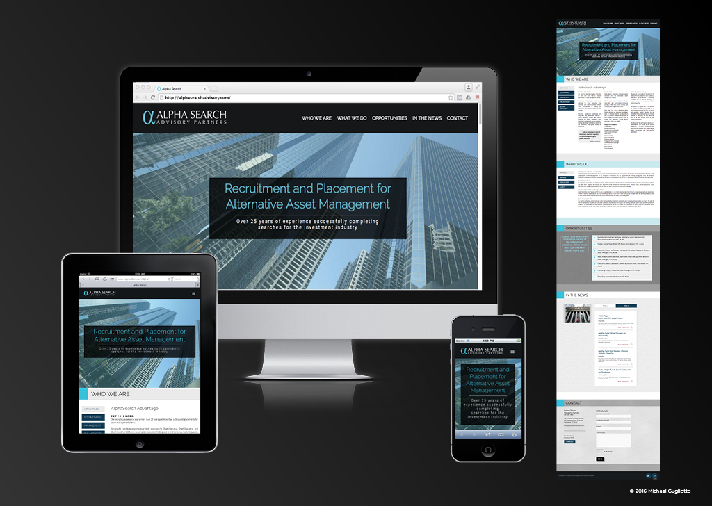 Financial Mobile Responsive Website