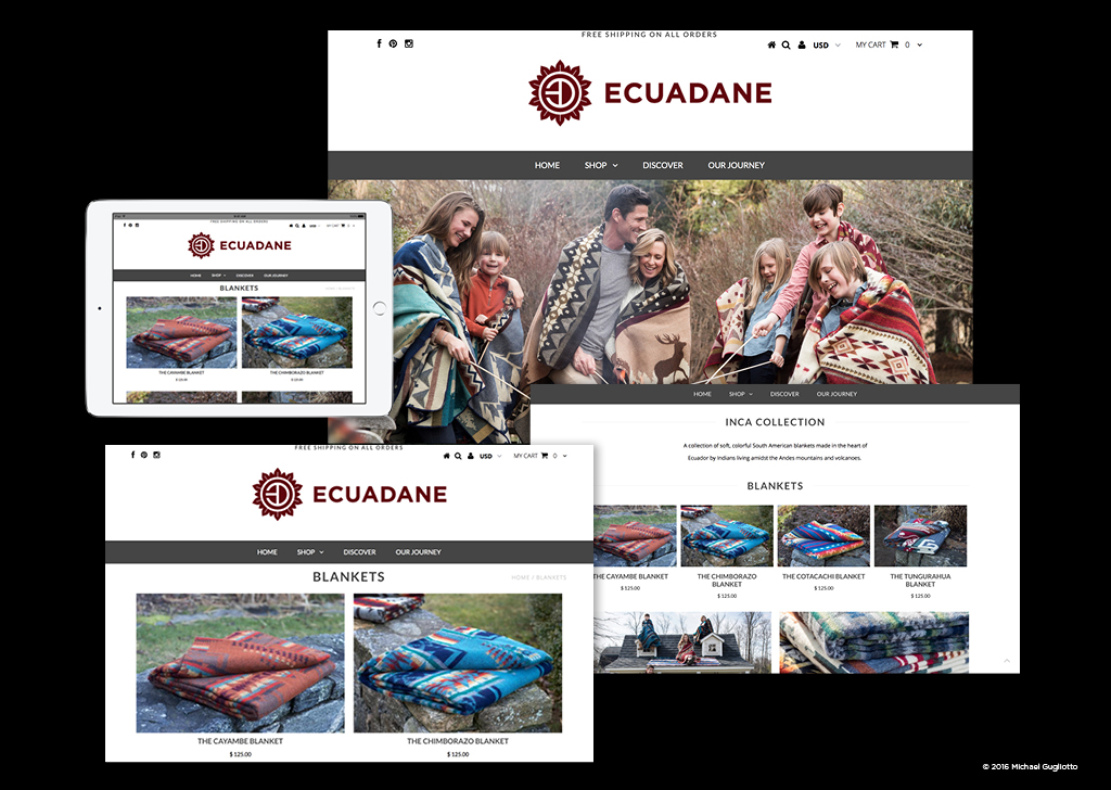 Ecuadane Mobile Shopping Website